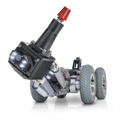 Grey Pneumatic Tires on MicroGator 2.0