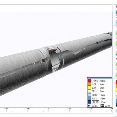 ILP Laser Pipe Profiler 3D Scan Data