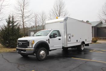 F550 Box Truck Inspection Vehicle